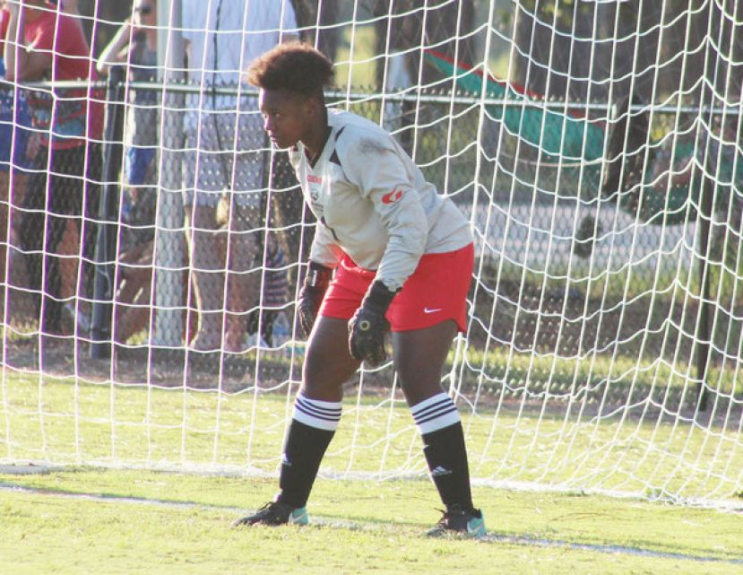 Crystal Francis from Macon, Ga., contributed to the win with several important saves at the goal and earned player of the game recognition.