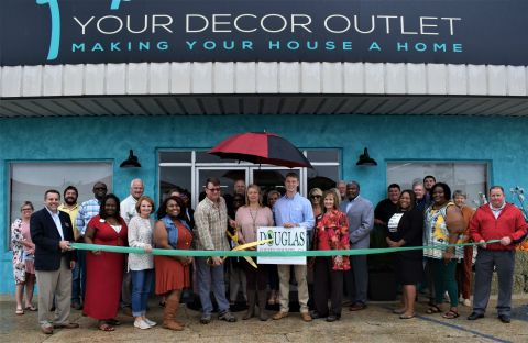 Your Décor Outlet opens with ribbon cutting this past Tuesday