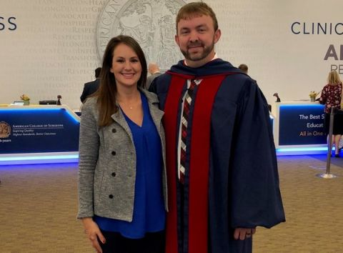 Dr. Chester Royals initiated into American College of Surgeons