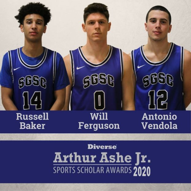 Russell Baker, Will Ferguson and Antonio Vendola were named Arthur Ashe, Jr. Sports Scholars for 2020.