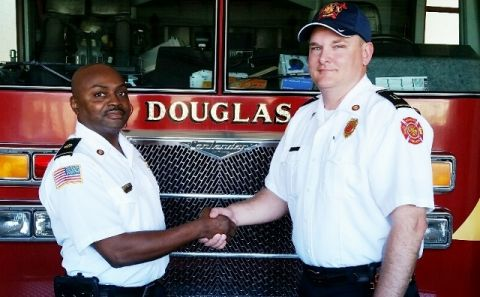 Douglas Fire Dept. promotes Gasque, Wiggins to captains