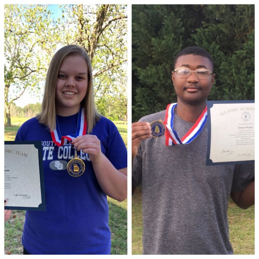 Kaylen Wilkerson of Douglas and Ernest Wesley of Fitzgerald were named to Phi Theta Kappa's All-Georgia Academic Team for South Georgia State College.