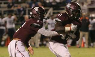 Jameon Gaskin, Milton Jackson combine for six touchdowns in Coffee's 55-21 win over Evans Knights