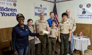 American Legion Post 515 assists Boy Scouts with donation, flag disposal