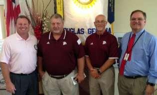 Coaches Pruitt, Garrett visit Rotary