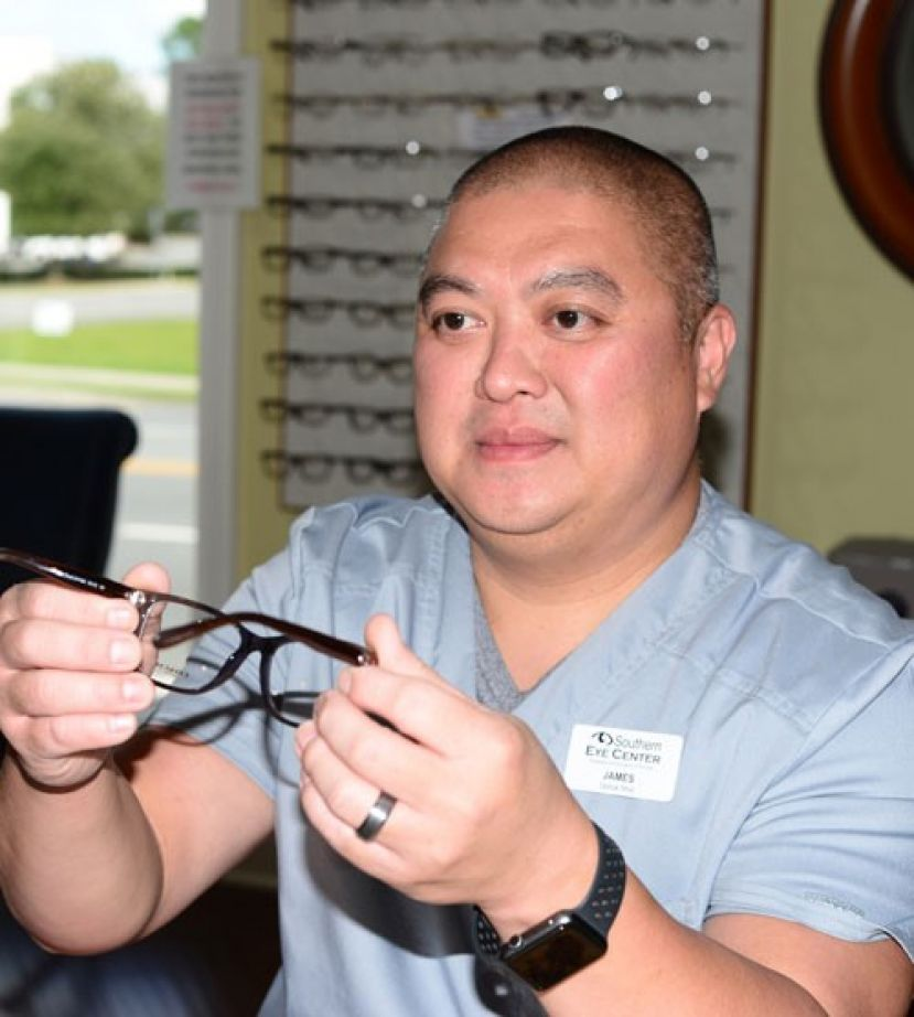James Vu, Optical Manager at Southern Eye Center in Valdosta, is a graduate of the Opticianry program at Wiregrass Tech.